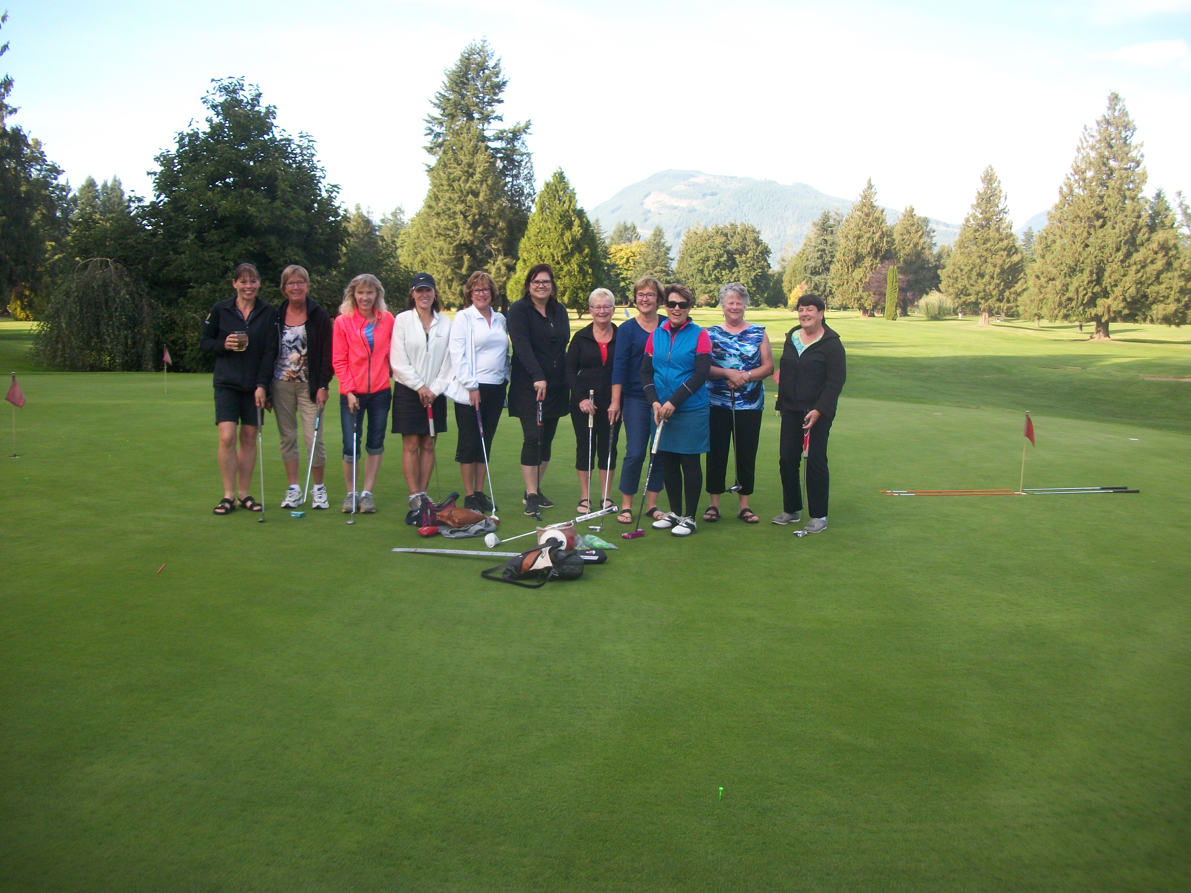 group of women golfing